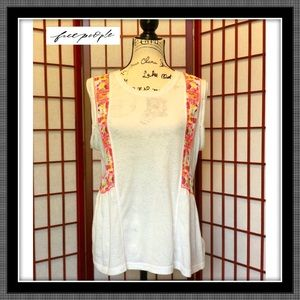 Free People white Top - VGUC - Size Large